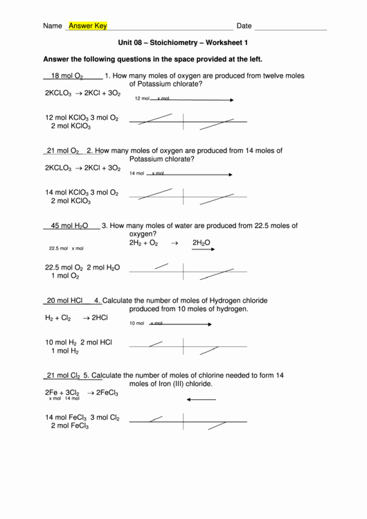 Stoichiometry Worksheet Answer Key New Stoichiometry Worksheet with Answer Key Printable Pdf