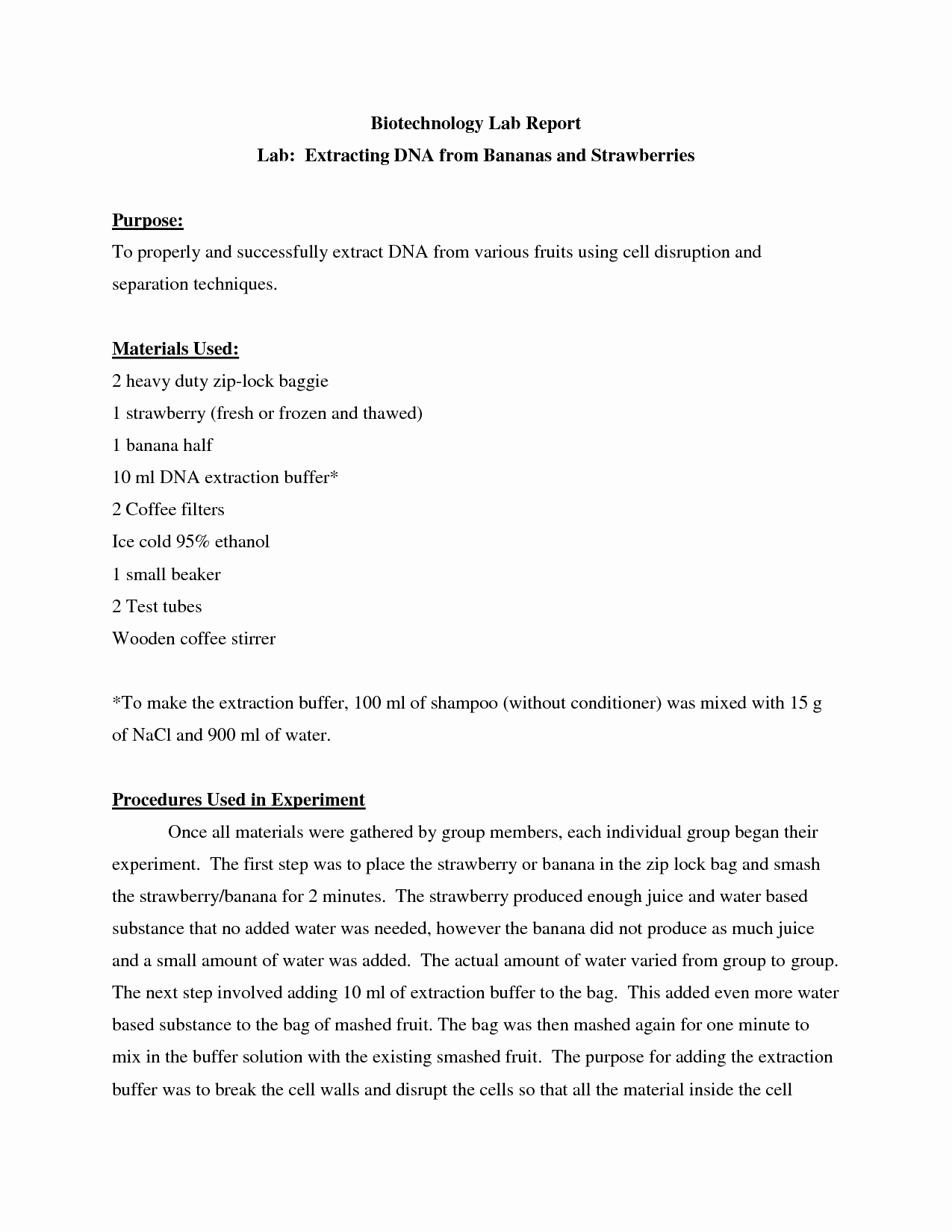 Strawberry Dna Extraction Lab Worksheet Elegant Dna Extraction Lab Report Extracting Ion Dna 2019 02 17