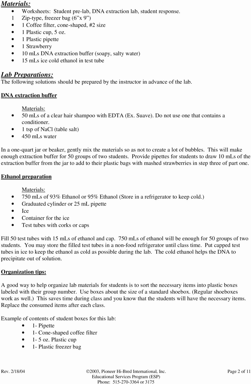 Strawberry Dna Extraction Lab Worksheet Inspirational Module 3 Strawberry Dna Extraction Pdf