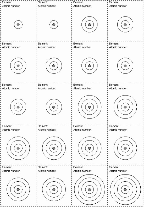 21 images of blank bohr model template 49