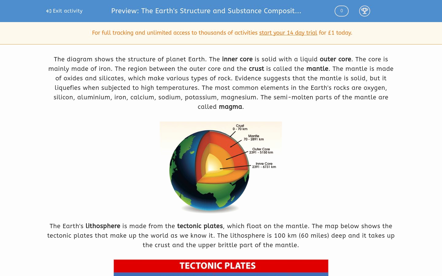 Structure Of the Earth Worksheet Beautiful the Earth S Structure and Substance Position Worksheet