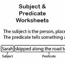 Subject Predicate Worksheet Pdf Awesome Subject and Predicate Worksheets First Grade Language