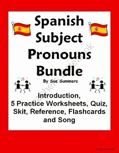 Subject Pronouns In Spanish Worksheet Lovely 1000 Images About Thanksgiving Spanish Class On Pinterest