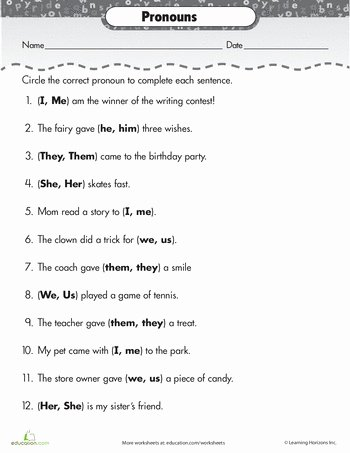 Subject Pronouns In Spanish Worksheet New 25 Best Ideas About Pronoun Worksheets On Pinterest