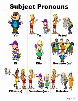 Subject Pronouns In Spanish Worksheet Unique 36 Best Images About Pronombres Yo Tú Él Ella