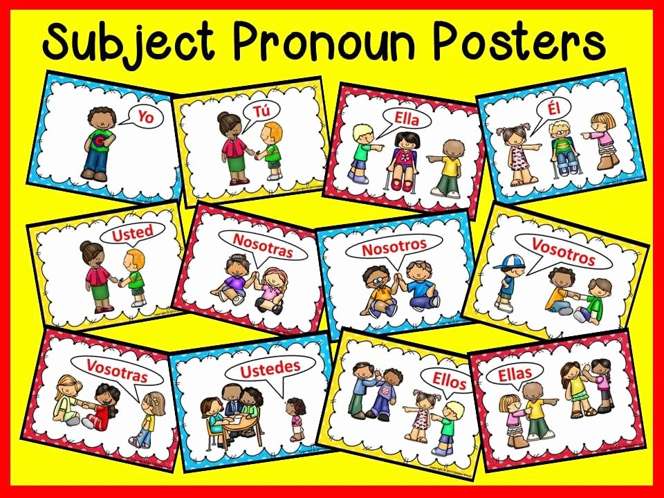 Subject Pronouns In Spanish Worksheet Unique Spanish Subject Pronouns Worksheets and Posters