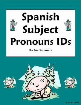 Subject Pronouns Spanish Worksheet Awesome 26 Best Images About Spanish Pronombres On Pinterest