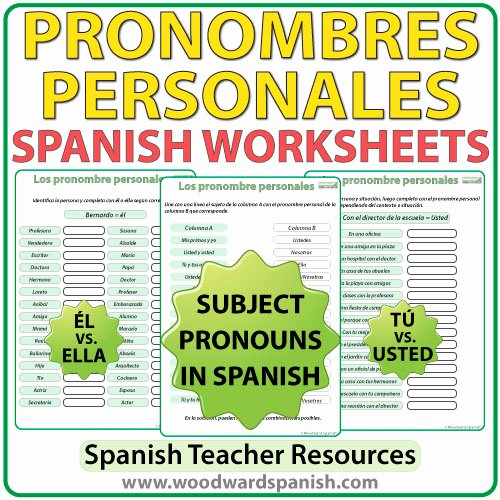 Subject Pronouns Spanish Worksheet Best Of Spanish Subject Pronouns – Worksheets