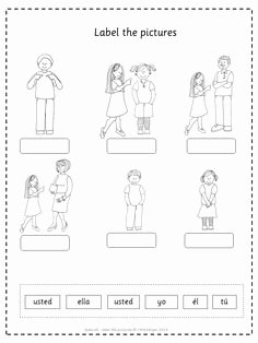 Subject Pronouns Spanish Worksheet Best Of Yo Ella El Usted