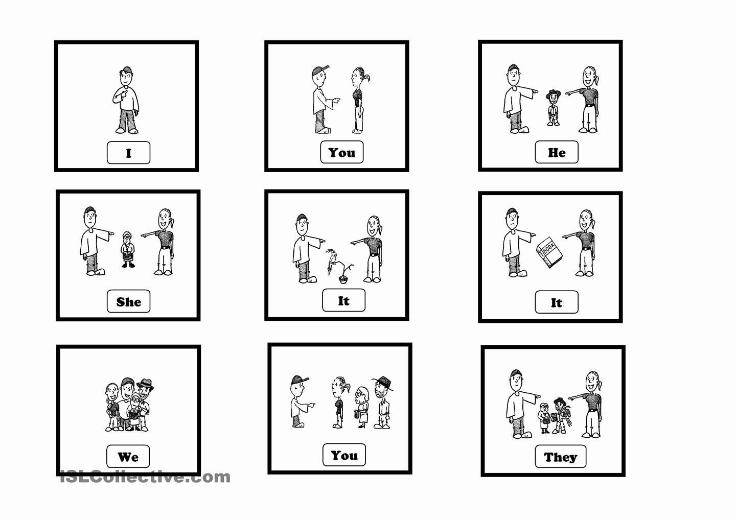 Subject Pronouns Spanish Worksheet Elegant Subject Pronouns Cards Autism