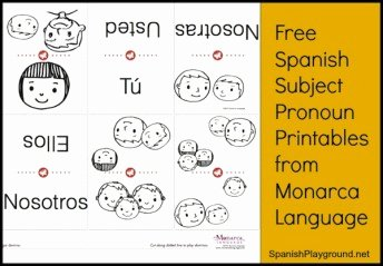Subject Pronouns Spanish Worksheet Lovely Printable Spanish Worksheets Archives Spanish Playground