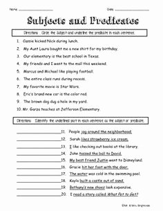 Subjects and Predicates Worksheet Awesome Plete Subject and Plete Predicate