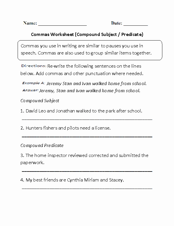 Subjects and Predicates Worksheet Best Of Englishlinx
