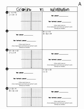 Substitution Method Worksheet Answer Key Elegant Systems Of Equations Graphing Vs Substitution Partner