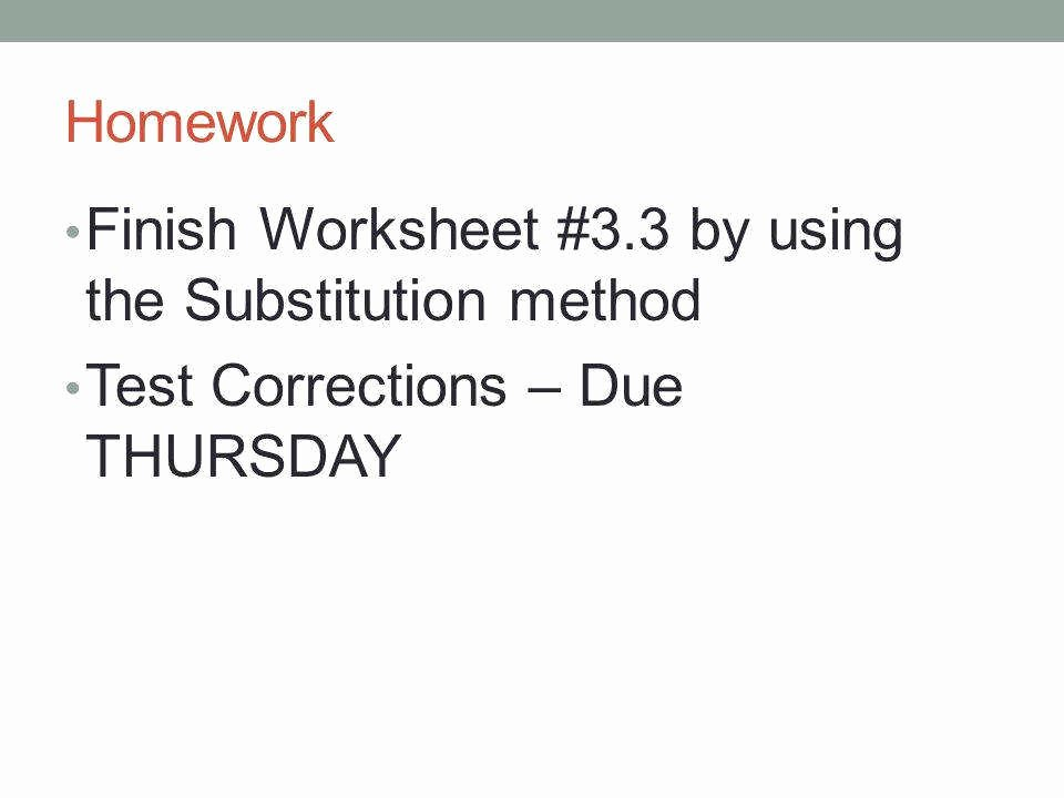 Substitution Method Worksheet Answer Key Unique Substitution Worksheet