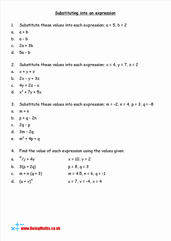 Substitution Method Worksheet Answers Unique Substitution Free Worksheets Powerpoints and Other