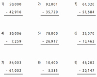 Subtracting Across Zeros Worksheet Luxury Subtraction Across Zero Worksheets