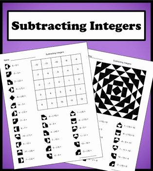 Subtracting Integers Worksheet Pdf New Subtracting Integers Color Worksheet by Aric Thomas