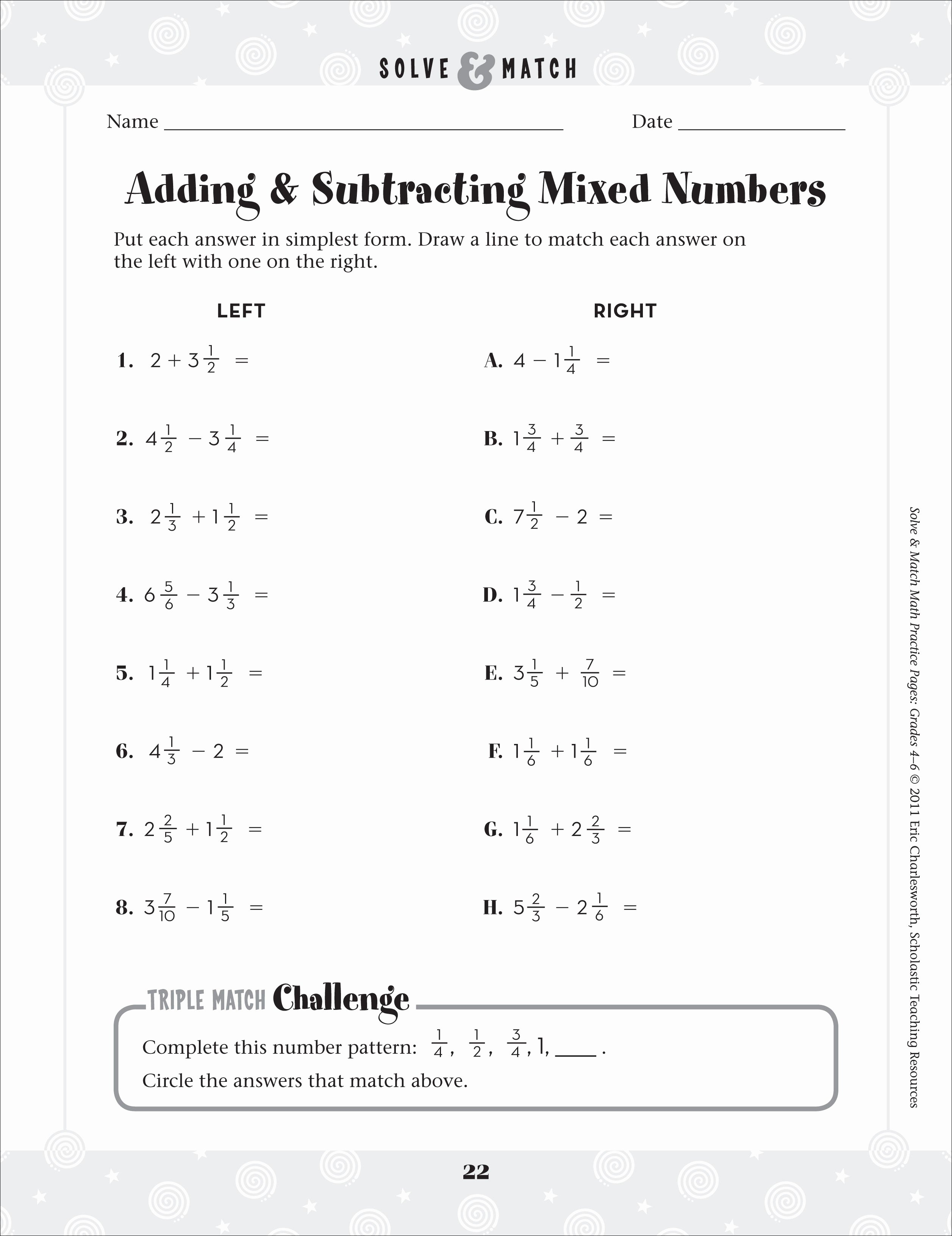 Subtracting Mixed Numbers Worksheet Fresh Math Worksheets Fractions – Michael Jordan Was Cut From