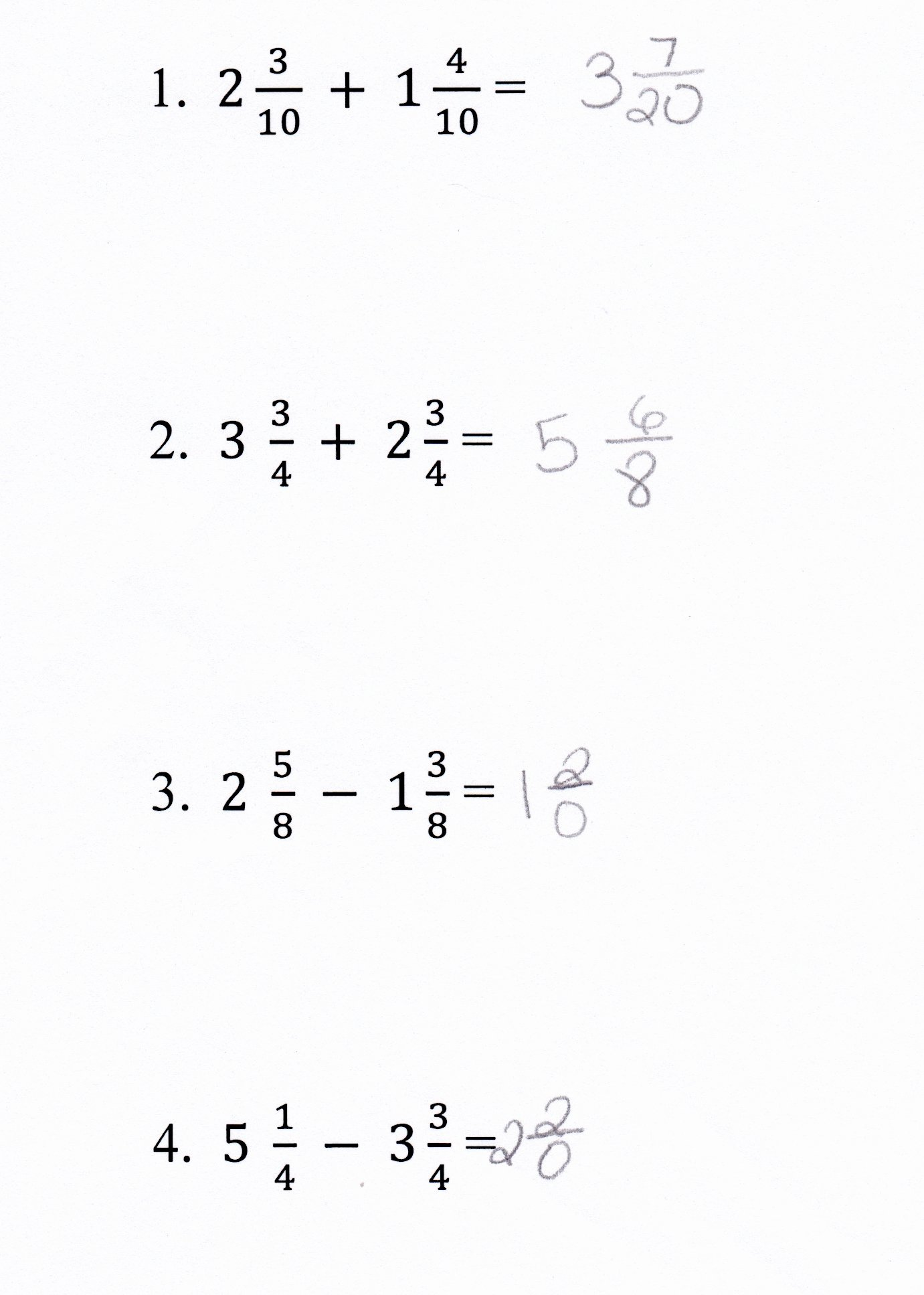 Subtracting Mixed Numbers Worksheet New Worksheet Adding and Subtracting Fractions and Mixed