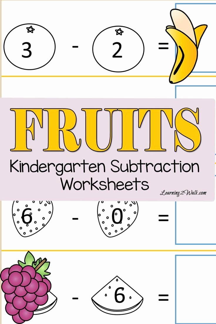 Subtraction Worksheet for Kindergarten Awesome Fresh Kindergarten Subtraction Worksheets with