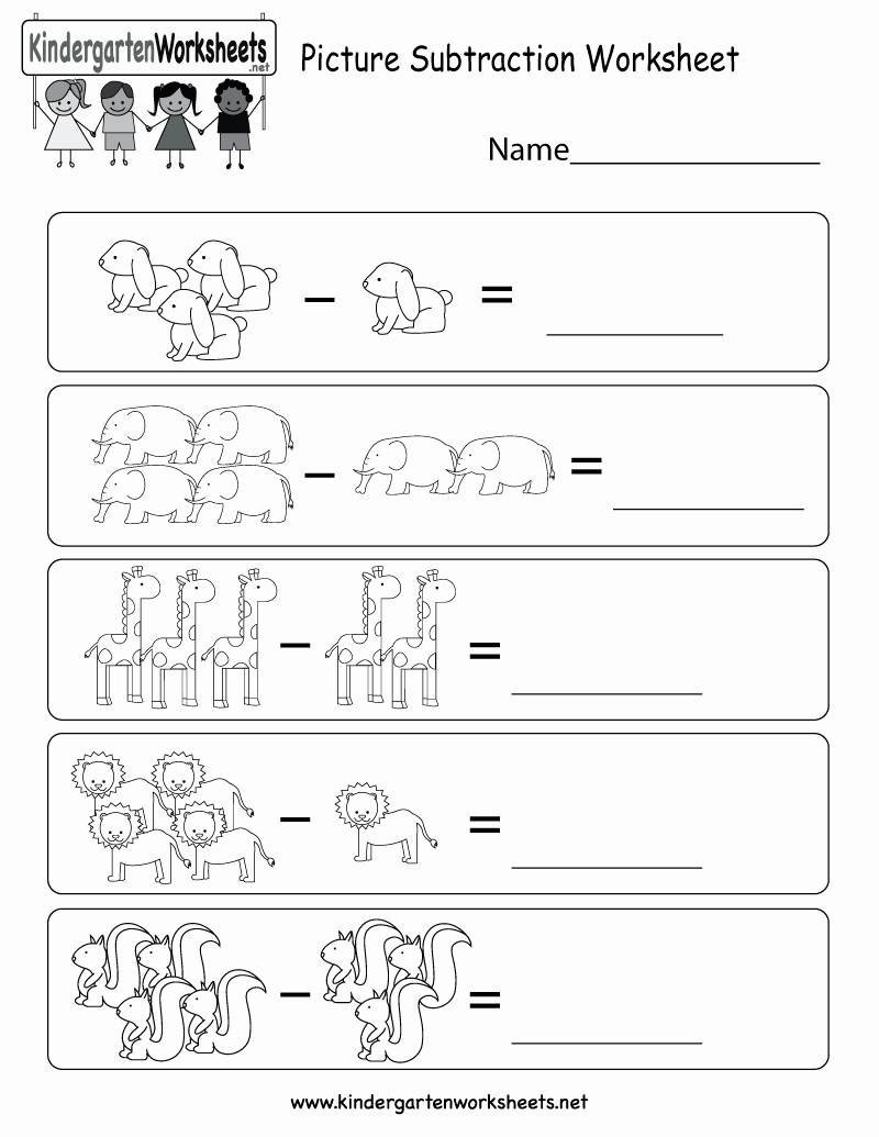 Subtraction Worksheet for Kindergarten Beautiful Picture Subtraction Worksheet Free Kindergarten Math