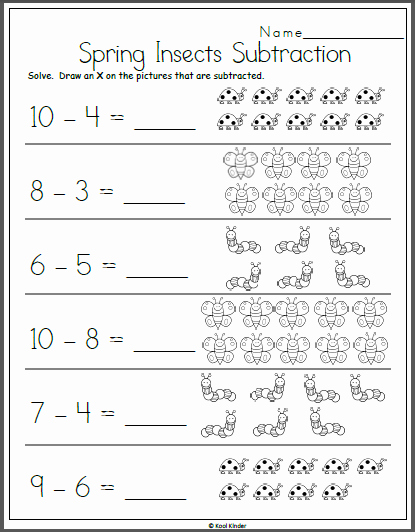Subtraction Worksheet for Kindergarten Elegant Spring Subtraction Worksheet for Kindergarten Madebyteachers