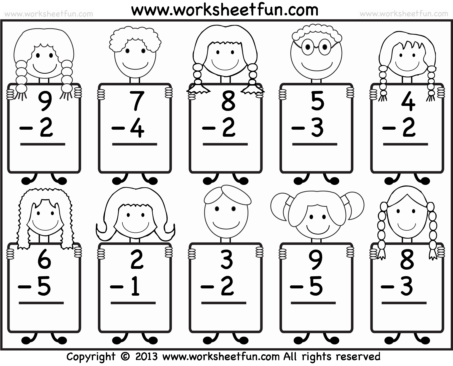 Subtraction Worksheet for Kindergarten Fresh Beginner Subtraction – 10 Kindergarten Subtraction