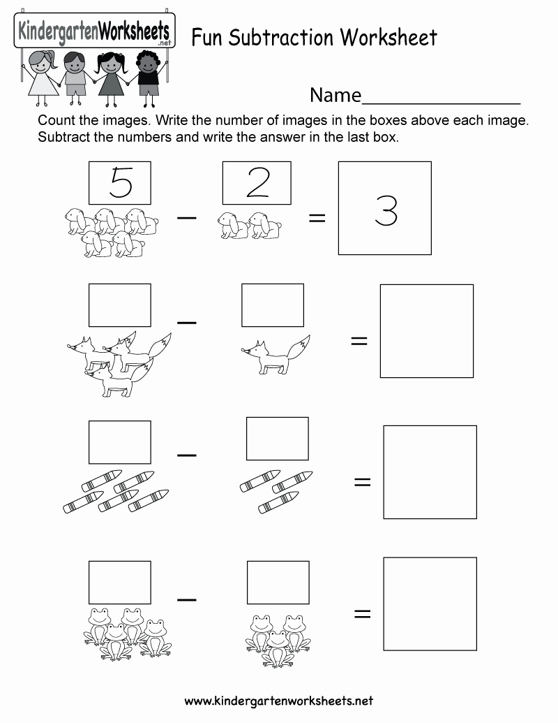 Subtraction Worksheet for Kindergarten Inspirational Fun Subtraction Worksheet Free Kindergarten Math