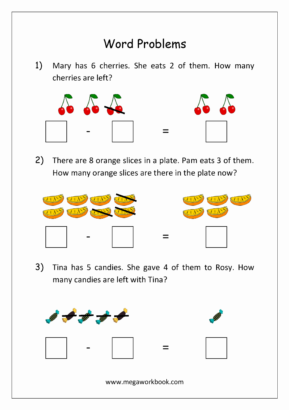 Subtraction Worksheet for Kindergarten Lovely Math Worksheet Story Problems Word Problems