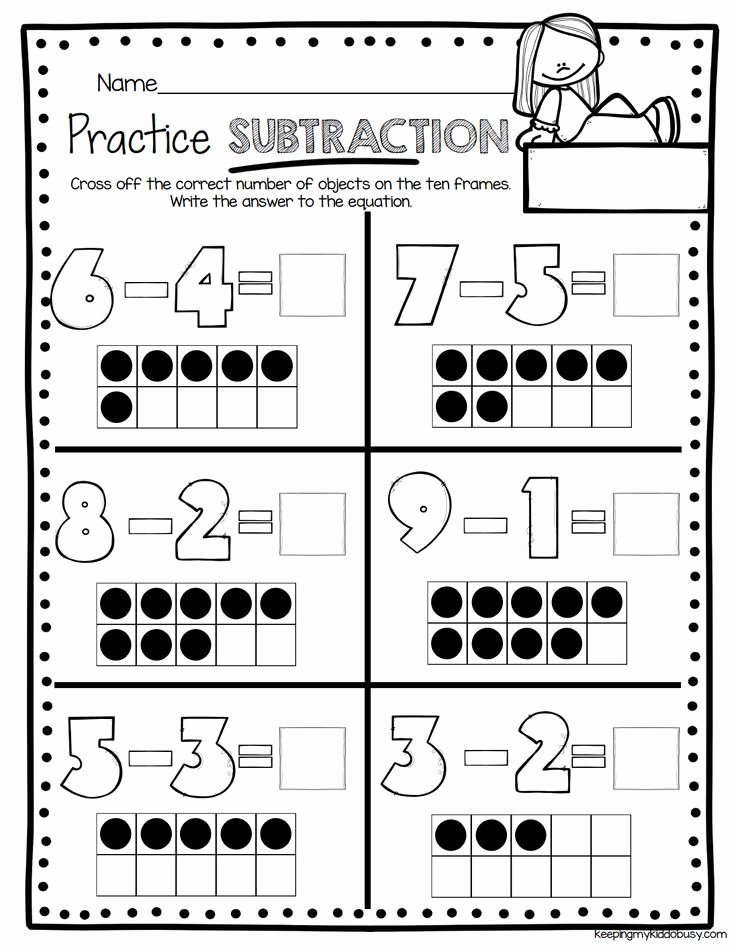 Subtraction Worksheet for Kindergarten Lovely Operations & Algebraic Thinking Bundle Freebies