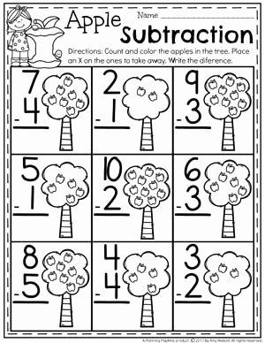 Subtraction Worksheet for Kindergarten Luxury Subtraction Worksheets Planning Playtime