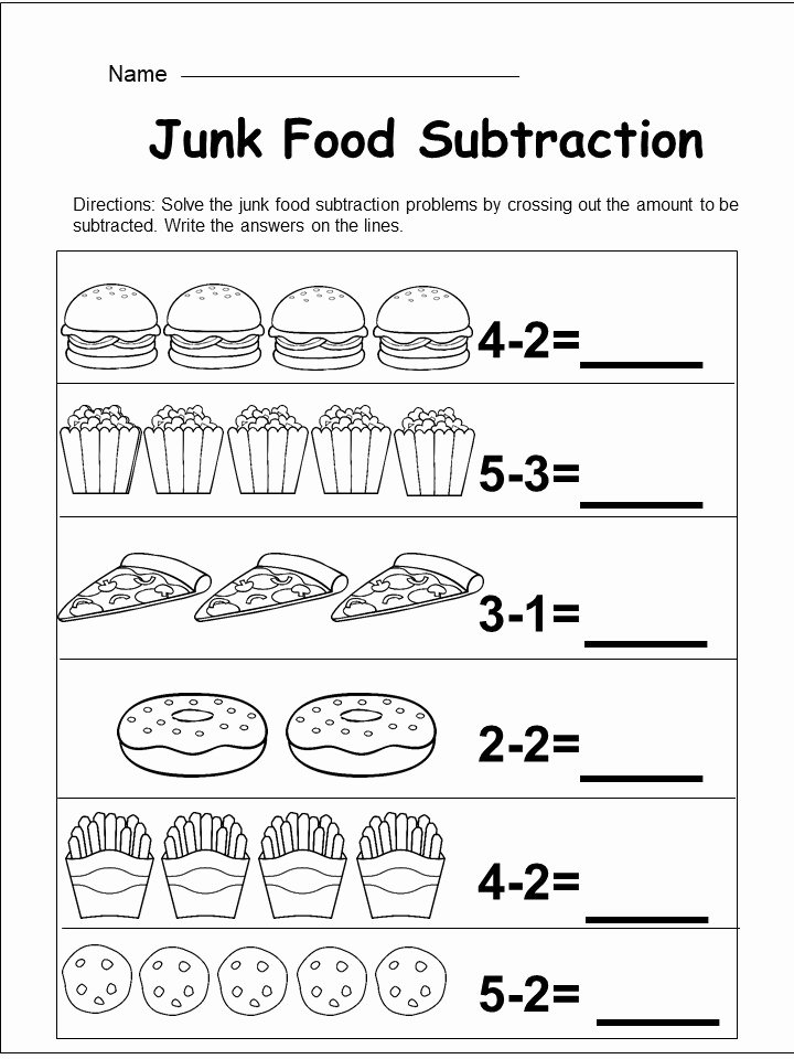 Subtraction Worksheet for Kindergarten Unique Free Kindergarten Subtraction Worksheet Kindermomma