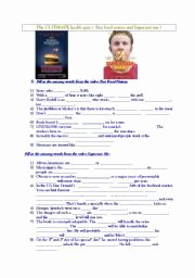 Super Size Me Video Worksheet Inspirational English Teaching Worksheets Supersize Me