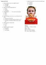 Super Size Me Video Worksheet Lovely Supersize Me Esl Worksheet by Tusieka