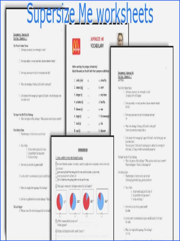 Super Size Me Video Worksheet New Supersize Me Worksheet