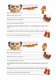 Super Size Me Worksheet Answers Beautiful Supersize Me Worksheets