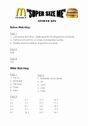"Super Size Me Worksheet Answers Elegant English Worksheets ""super Size Me"" Worksheet Answer Key"