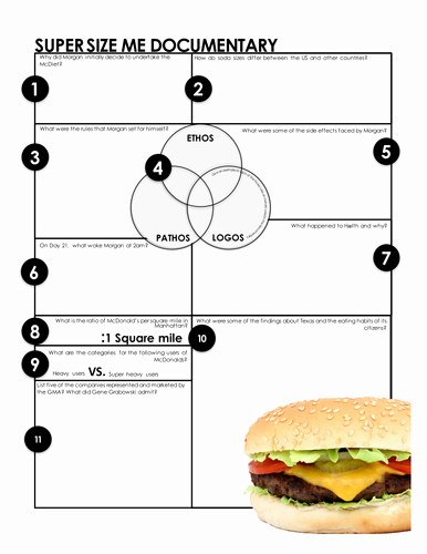 Super Size Me Worksheet Answers Unique Super Size Me Print and Go Worksheets for Analysis Of