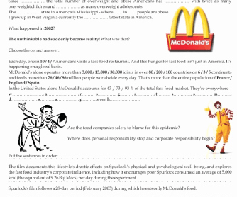 Supersize Me Worksheet Answers Lovely Movie Worksheet Super Size Me