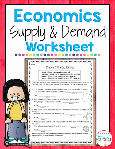 Supply and Demand Worksheet Best Of Teaching Resources Printables Worksheets and More