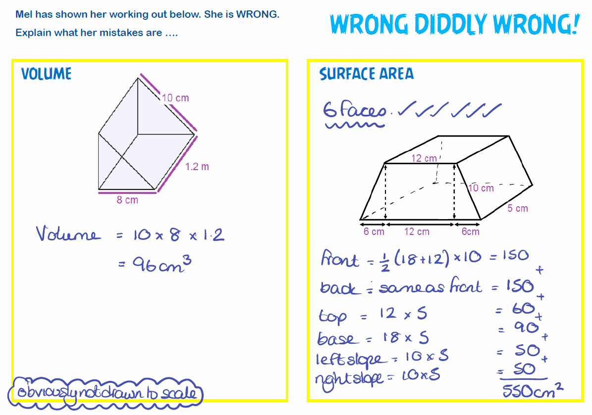 Surface area and Volume Worksheet Inspirational Surface area and Volume Revision