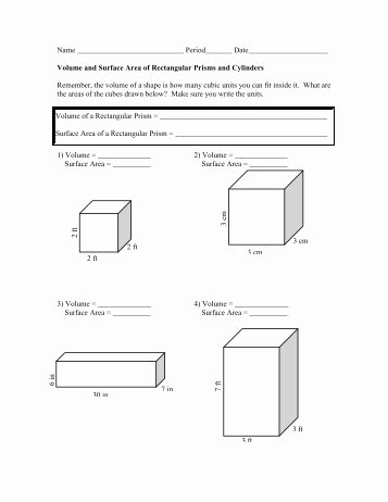 Surface area and Volume Worksheet Lovely Surface area Of Square Pyramid Math Worksheets for Kids