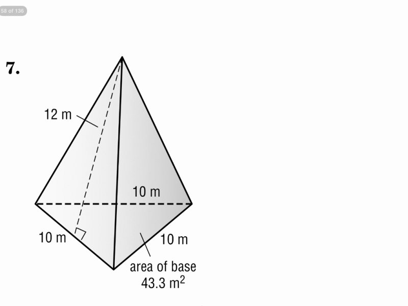 Surface area Of Pyramid Worksheet Awesome Surface area A Triangular Pyramid