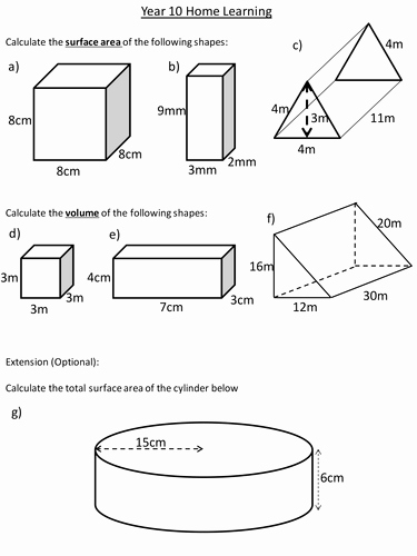 Surface area Of Pyramid Worksheet Awesome Surface area and Volume Of Prisms by Dannytheref