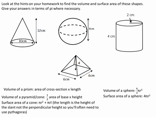Surface area Of Pyramid Worksheet Awesome Volume and Surface area Of Spheres Pyramids Cones and