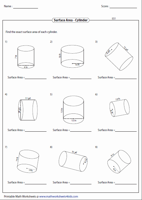 Surface area Of Pyramid Worksheet Elegant Surface area Worksheets