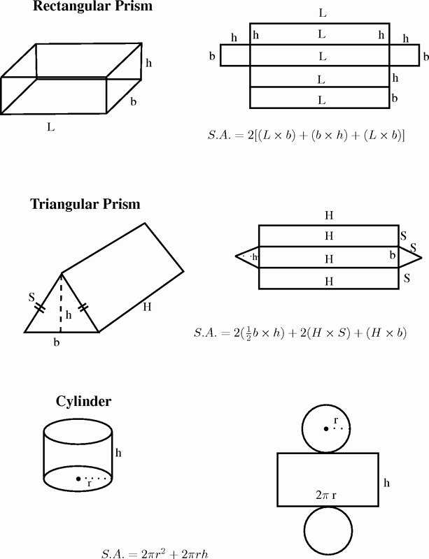 Surface area Of Pyramid Worksheet Lovely Surface area A Rectangular Prism Worksheet