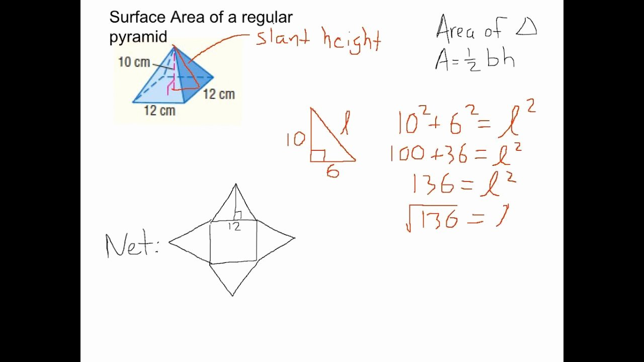 Surface area Of Pyramid Worksheet Lovely Worksheet Surface area Pyramids Worksheet Grass Fedjp