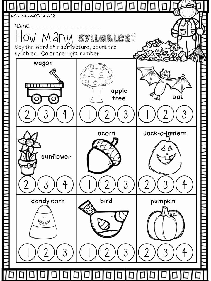 Syllable Worksheet for Kindergarten Beautiful Best 25 Syllables Kindergarten Ideas On Pinterest
